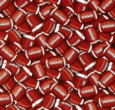 Score! Sports Bolted Fabric- Footballs, Packed