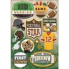 Cardstock Stickers- Football Star