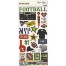 Football 6x12 Sticker