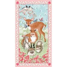 Animals Fabric Panel- Forest Friends