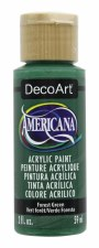Americana Acrylic Paint, 2oz- Greens: Forest Green