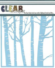 Clear Scraps 12x12 Stencil- Forest