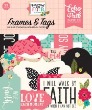 Forward with Faith Ephemera Die Cuts- Frames & Tags