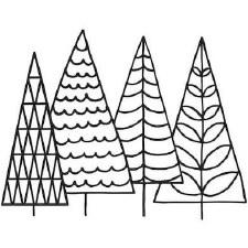 Darice Embossing Folder- Nature- Four Trees