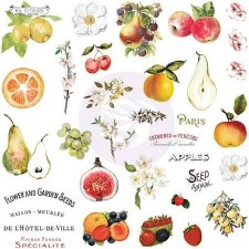 Fruit Paradise Ephemera Die Cuts w/ Stickers