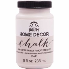FolkArt Home Decor Chalk Paint 8 oz- French Linen