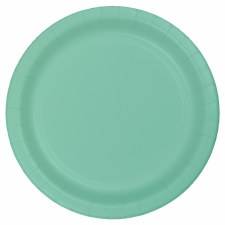 """Touch of Color 7"""" Paper Plate, 24ct- Fresh Mint"""