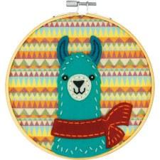 Learn 2 Craft Felt Applique Kit- Friendly Llama
