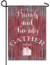 Garden Flag, Linen- Friends & Family Gather