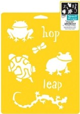 Stencil Mania 7x10 Stencil- Frogs & Friends