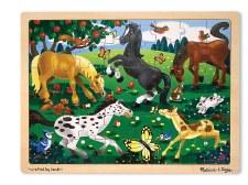 Melissa & Doug Jigsaw Puzzle- Frolicking Horses