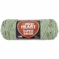 Red Heart Super Saver Yarn- Frosty Green Fleck