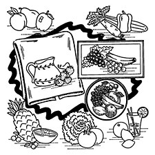 Aunt Martha's Iron On Transfers- Fruit & Vegetable Motifs #3632