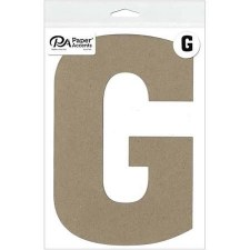 "8"" Chipboard Letter- G"