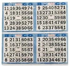 Bingo Game Sheets, 125ct