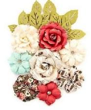 Midnight Garden Flower Embellishments- Garden Blooms