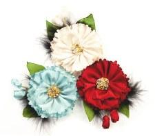 Midnight Garden Flower Embellishments- Midnight Elegance