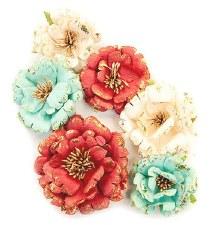 Midnight Garden Flower Embellishments- Pretty in Rouge