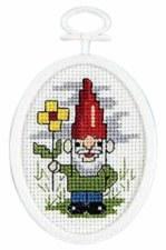 Mini Cross Stitch Kit- Garden Gnome