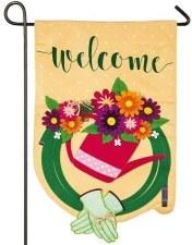 Garden Flag, Linen- Gardening Welcome