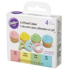 Gel Food Colors, 4ct- Traditional