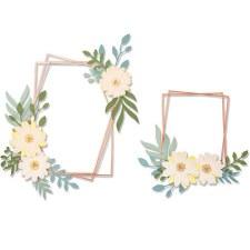 Sizzix Thinlits Dies- Geo Floral Frame