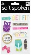 MAMBI Soft Spoken Stickers- Get Fit