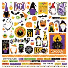 Gnome for Halloween Sticker Sheet