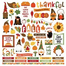 Gnome for Thanksgiving Sticker Sheet
