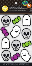 Halloween Icing Decorations- Ghost & Skulls