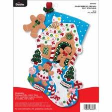 Bucilla Felt Stocking Kit- Gingerbread Dreams