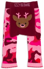 Baby Leggings, Camo Deer Pink- 6-12m