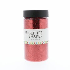 4oz. Glitter Shaker- Red