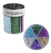 Glitter Caddy- Confetti Shapes, Dark