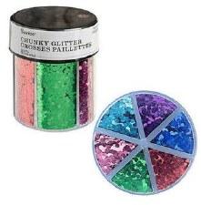 Glitter Caddy- Chunky Glitter, Primary