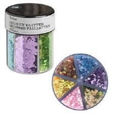 Glitter Caddy- Chunky Glitter, Pastel