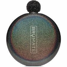 Flask 5oz- Glitter Charcoal