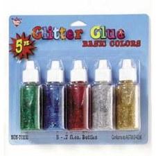 Glitter Glue, 5pk- Basic Colors
