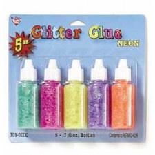 Glitter Glue, 5pk- Neon Colors