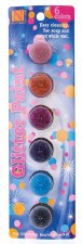 Nicole Acrylic Paint Pots, 6ct- Glitter Assortment