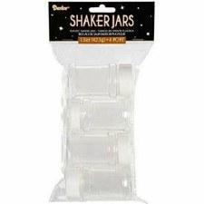 Empty Shaker Jars, 4pc
