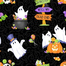 Glow Ghosts Bolted Fabric- Allover
