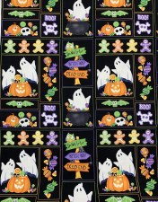 Glow Ghosts Bolted Fabric- Patchwork