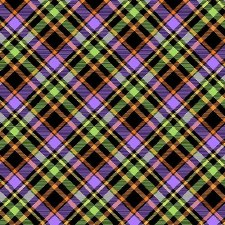Glow Ghosts Bolted Fabric- Plaid