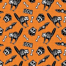 Glow Ghosts Bolted Fabric- Skeletons