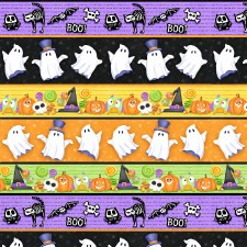 Glow Ghosts Bolted Fabric- Stripe
