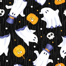 Glow Ghosts Bolted Fabric- Tossed