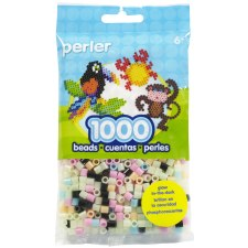 Perler Beads 1000 piece- Glow In The Dark Mix