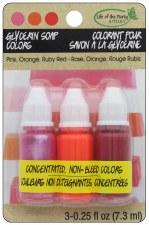 Glycerin Soap Colorants- Pink, Orange, Red
