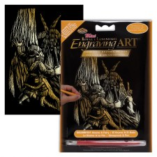 Engraving Art Foil Set- Copper Gnome & Fairy